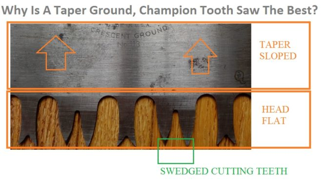 Why Is A Taper Ground, Champion Tooth Saw The Best?