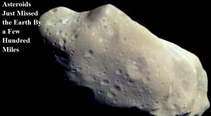 Asteroids missed the Earth by less than a quarter of the distance to the Moon in 2016 and 2017